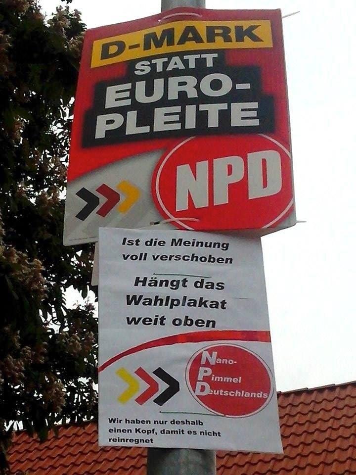 Nano Pimmel Deutschlands - Die NPD ist immer gut für Adbusting