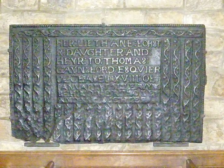 Wealden iron grave slab in St Swithuns church East Grinstead, Sussex