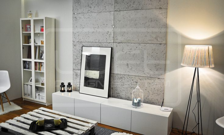 Loft concrete - salon/living room. Click at the photo to get more information or to visit our website.  #LoftDesignSystem #loftsystem #Decorativepanels #Inspiration #Interior #Design #wallpanels #3Ddecorativepanels #3dpanels #3dwallpanels #house #home #homedesign #Decorations #homedecorations  #salon #livingroom