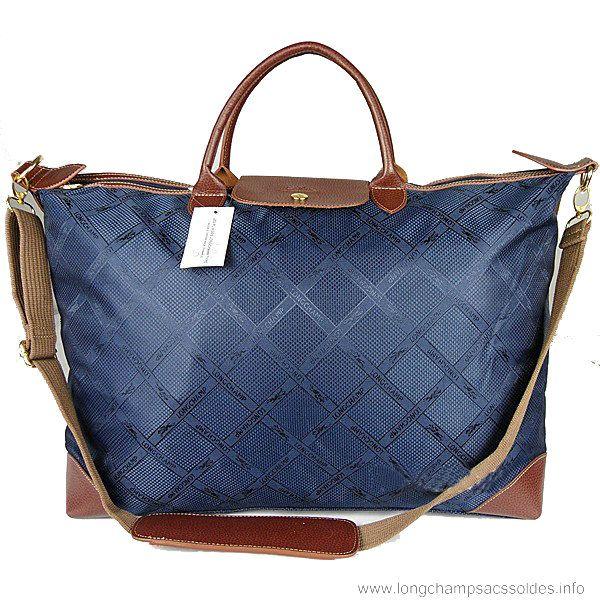 Longchamp Le Pliage Travel Bags In Blue