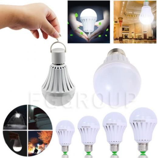 E27 Emergency Led Light Bulb Rechargeable Intelligent Lamp Surprise White China
