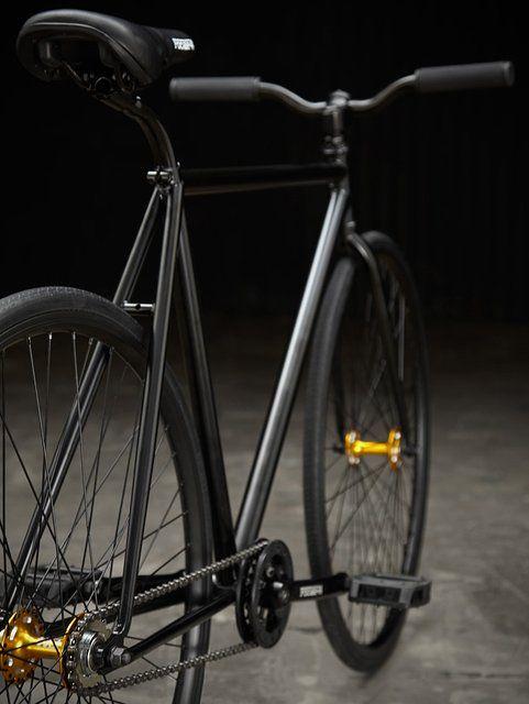 gold in black bike love it!