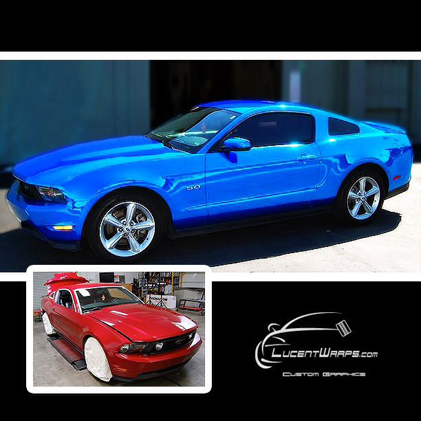 Color Changing Cars: Color Change Vinyl Wrap W Avery SW Blue Chrome By Lucent