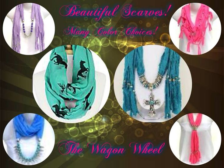 Scarves in all colours order below!! http://www.wagonwheelcompany.com/#a_aid=Averoe