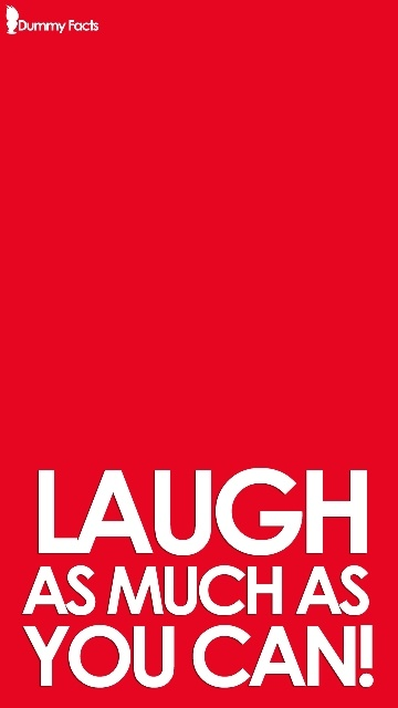 Free Wallpaper – Laugh As Much As You Can    You can get the desktop version here:  http://www.dummyfacts.com/free-wallpaper-laugh-as-much-as-you-can/