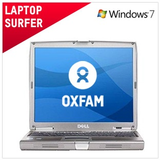 Laptop Surfer - €180 / £150  This computer has been refurbished to the highest standard. Perfect for internet and general use - including Facebook, Youtube and emails. Fully operational and functions as intended. Comes with 6 month warranty.  And by buying this computer you're helping to raise vital funds for our work around the world.   Full spec and more info here:  https://www.oxfamireland.org/computers/laptop-surfer