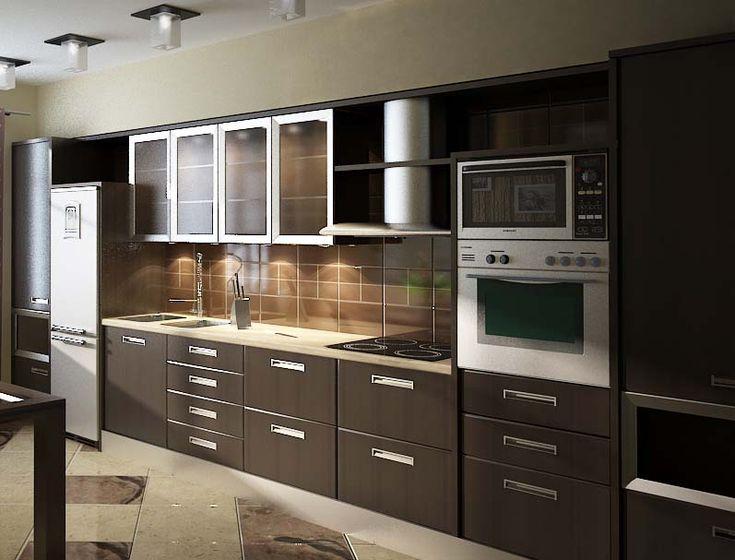 3d Model Kitchen 147 Free Dowload Glass Kitchen Cabinet Doors Aluminum Kitchen Cabinets Glass Kitchen Cabinets