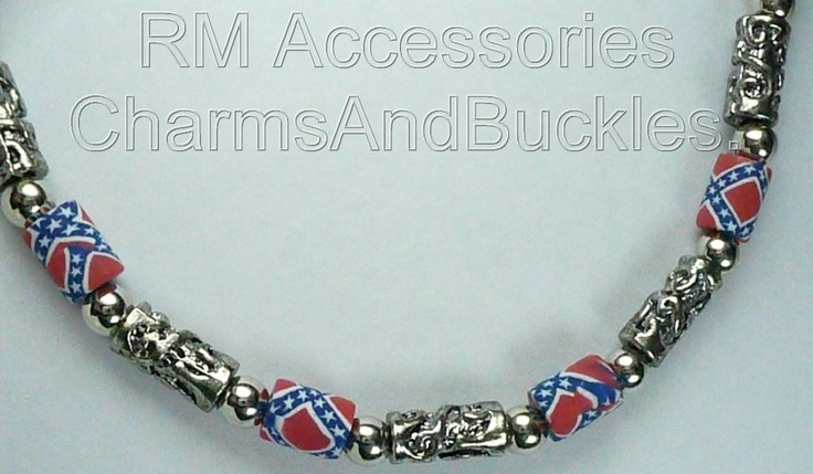 REBEL FLAG NECKLACE CONFEDERATE SOUTHERN PRIDE DIXIE