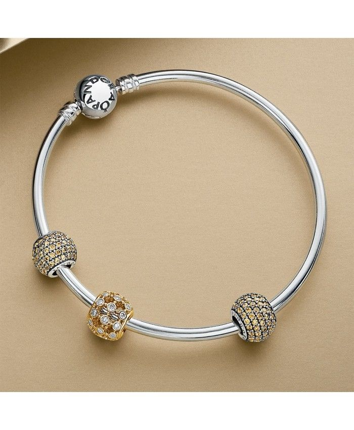 dae44e7c6 Pandora Sterling Silver with Barrel Clasp Bangle Bracelet | silver ...