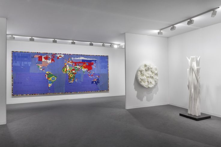 View of our Booth D1 at Art Basel Miami Beach 2016 Artworks by #AlighieroBoetti, #FrancescaPasquali and #PabloAtchugarry.  #ArtBasel2016 #ArtBaselMiami #ItalianArt #ItalianMasters #TornabuoniArt