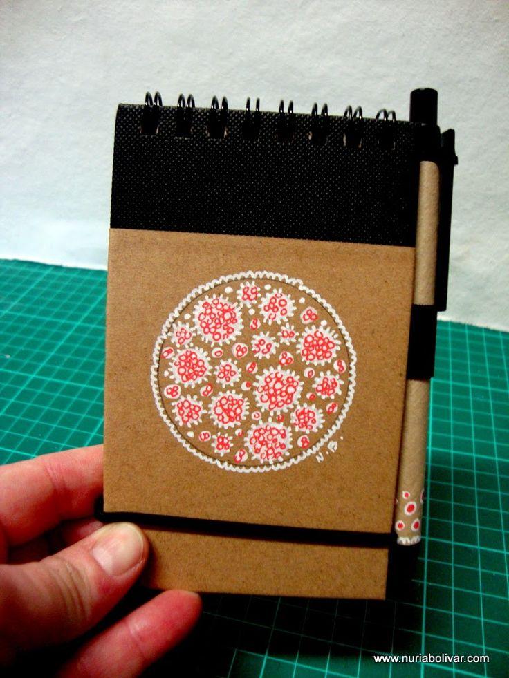 Art i sensacions: Llibretes pintades a mà i llibretes decorades amb ...