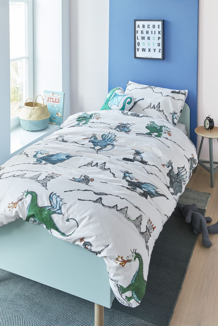 Collection Dragon . Enfants | Kids - Housse de couette avec cache oreiller | Duvet cover with sham