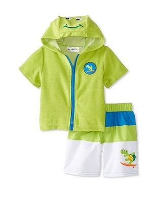 62% OFF Wippette Baby-Boy Turtle Cover-Up & Short Set (Lime)