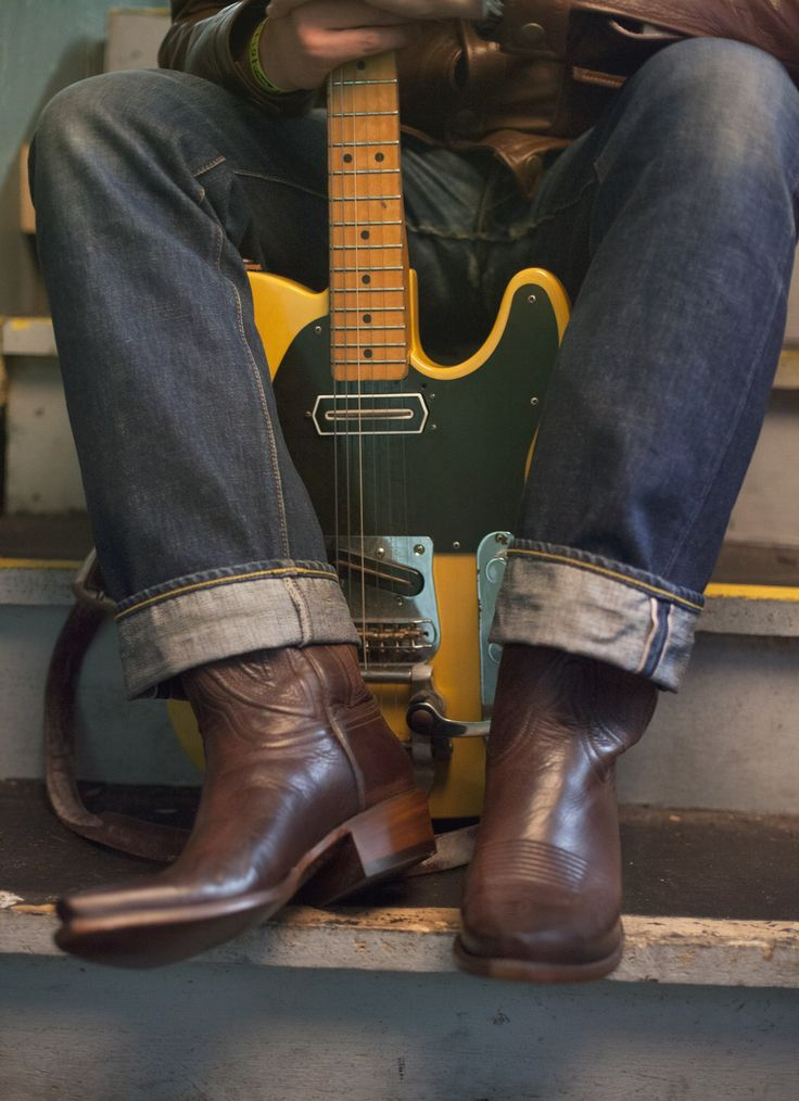 Lucchese Boots for Men | Collins | Buffalo Leather in Whiskey #LuccheseBoots