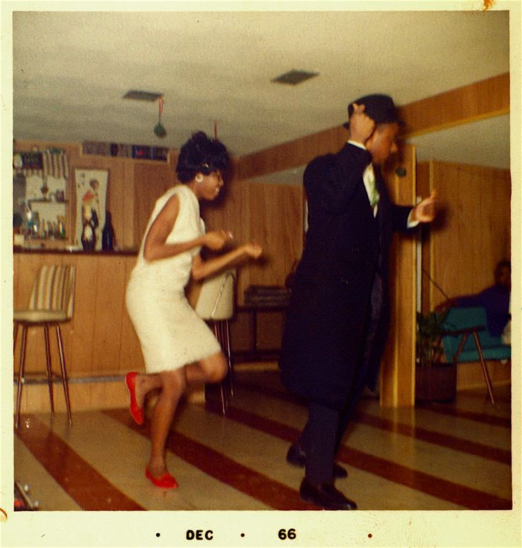 Vintage Color Photograph Dance Party For Two In The Rumpus Room
