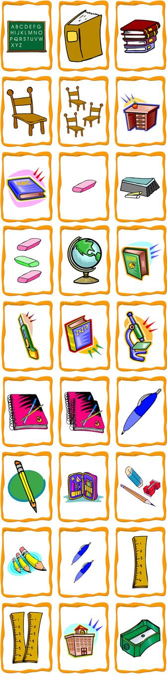 FlashCards Preview (School Objects)