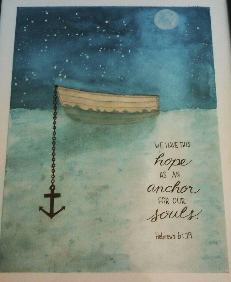 Hebrews 6:19 / paintingpearls