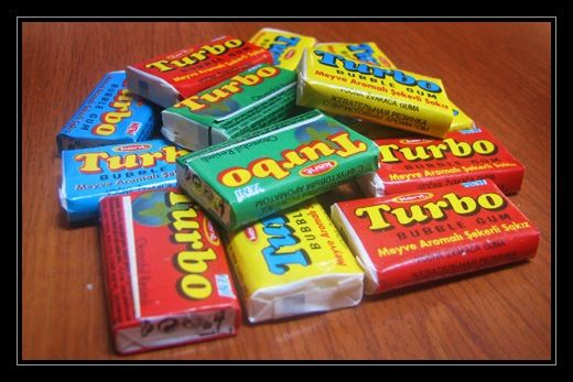 As a Romanian child in the '80s, I had two options for bubble gum: the delicious Turbo (Turkish) gum, with multiple flavors and car surprises and a locally produced gum, with no flavor, no surprise.