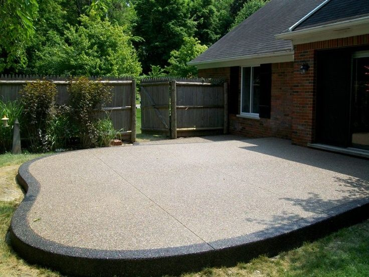 Image result for exposed aggregate patio images