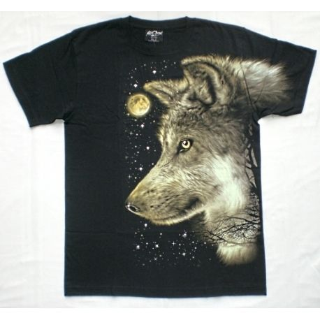 Wolf t-shirt with studs