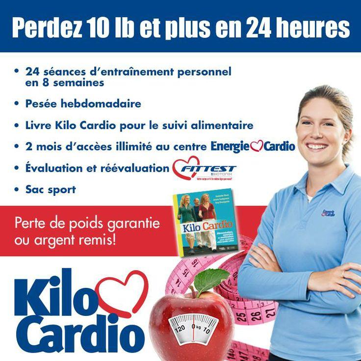 Kilo Cardio, le renommé programme de perte de poids d'Énergie Cardio... Perte de poids garantie ou argent remis! Détails et conditions applicables en succursale.