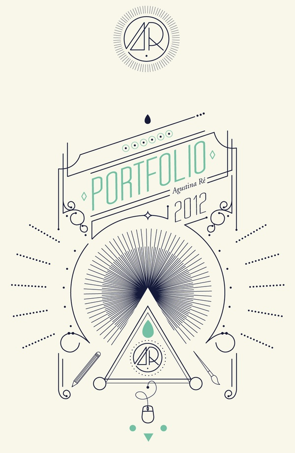 Awesome Portfolio Cover using line design and typography // Mi Universo by Agustine Re