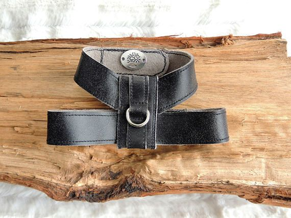 Small Dog Harness Worn Black Leather Dog Harness Small Pet