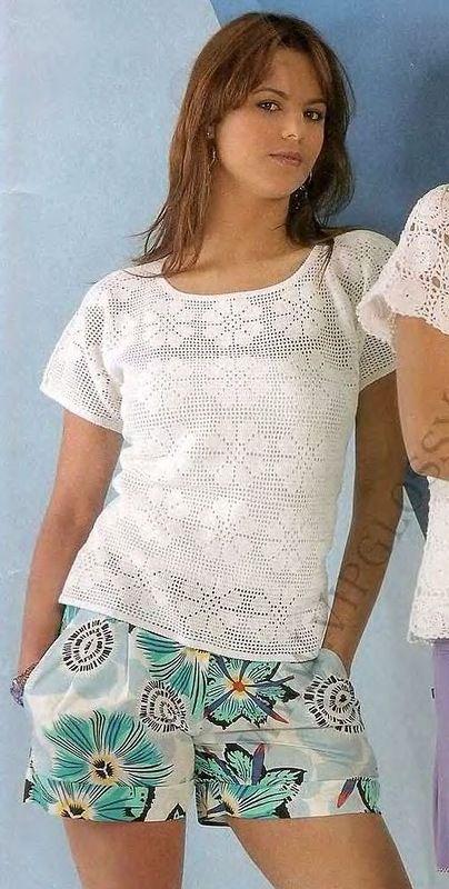 Inspirações de Croche com Any Lucy: Blusa.