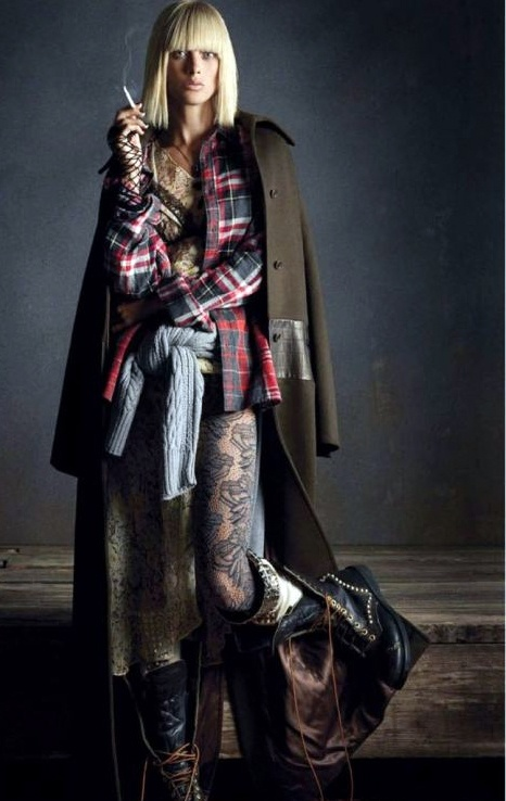 Grunge days are here to stay! Carolyn Murphy by Daniele & Iango for Vogue Germany.