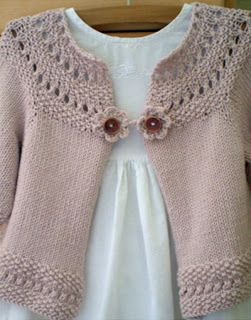 Share Knit and Crochet: Knitting cardigan for little girls