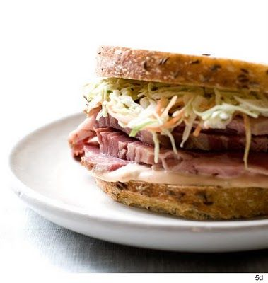 Corned Beef Sandiwch with coleslaw for St. Patrick's Day