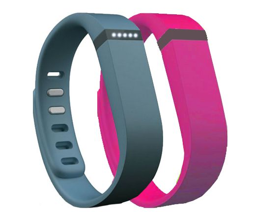 Fitbit Flex Wireless Activity and Sleep Wristband Slate with Extra Band Purple Pink