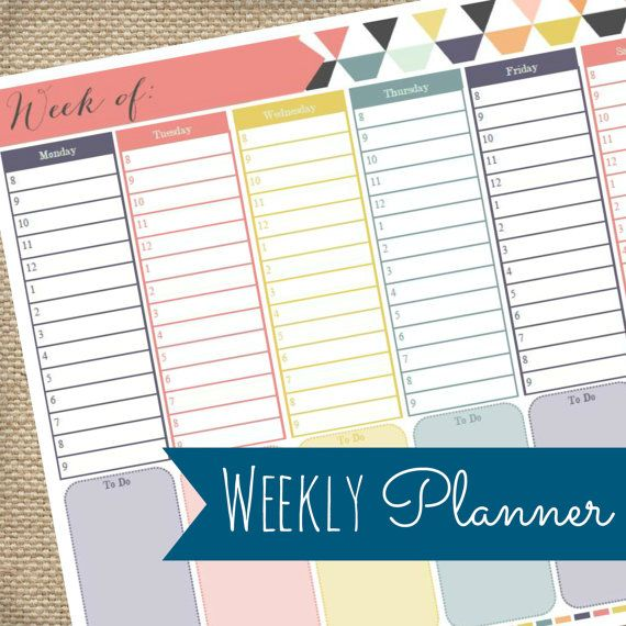 The 25+ best Weekly organizer ideas on Pinterest Post office - weekly agenda