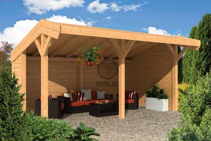 Doe het zelf bouw lariks douglas kapschuur 600 x 300 cm