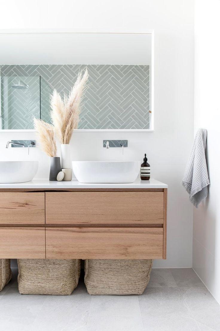 Use Baskets Underneath Floating Vanities For Additional Storage Bathroom Vanity Designs Vanity Design Minimalism Interior
