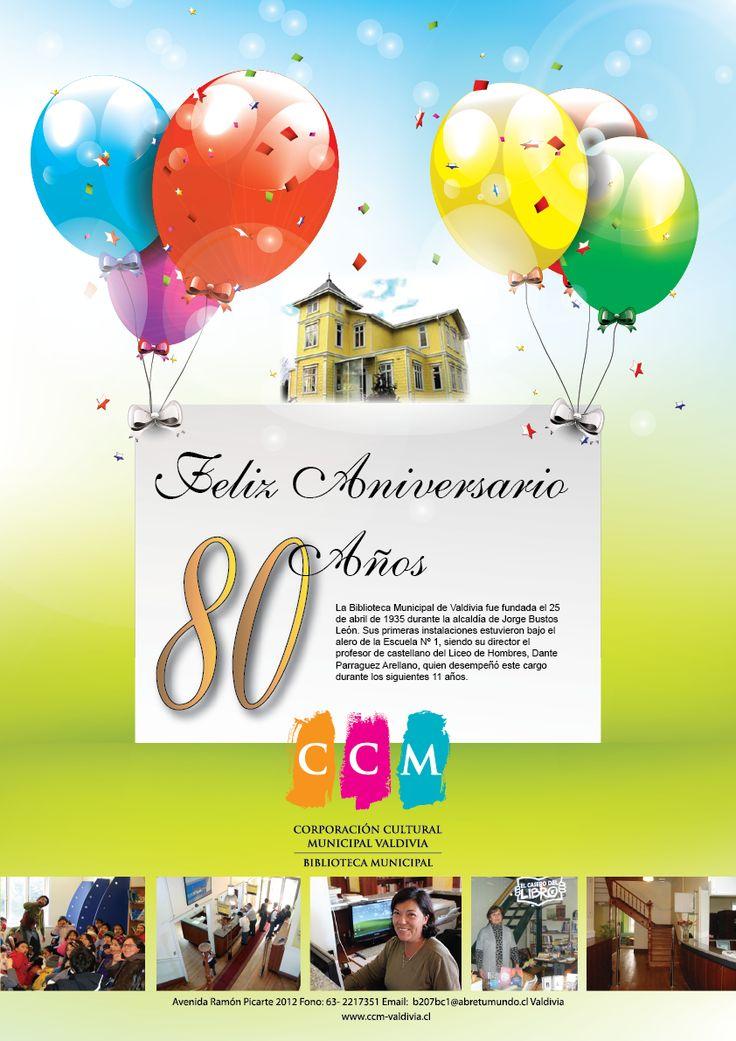Aniversario 80 Años, Biblioteca Municipal de Valdivia