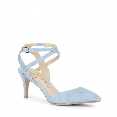 Light Blue Ankle Strap Pump | Lana | Free Shipping on Orders $50+