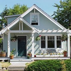 front porch with a deck to the left - Google Search