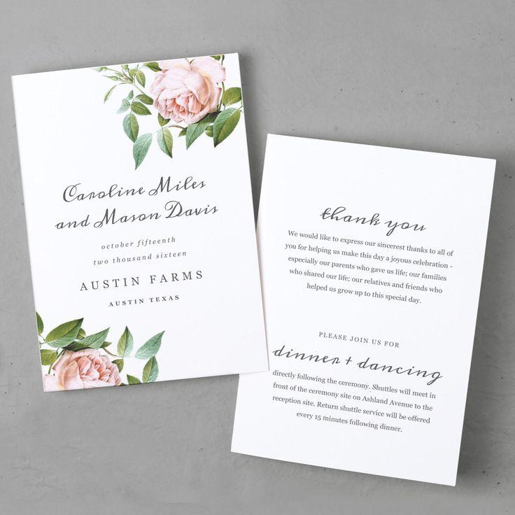 Best Wedding Programs Diy Printable Wedding Order Of Service