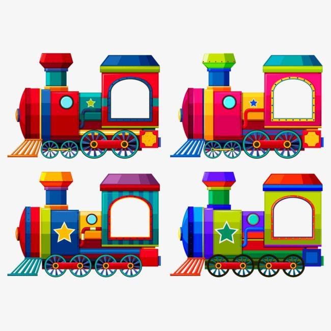 Kids Toys Color Cartoon Toys Child Toy Vector Train Vector Train Illustration Toy Train Train Vector