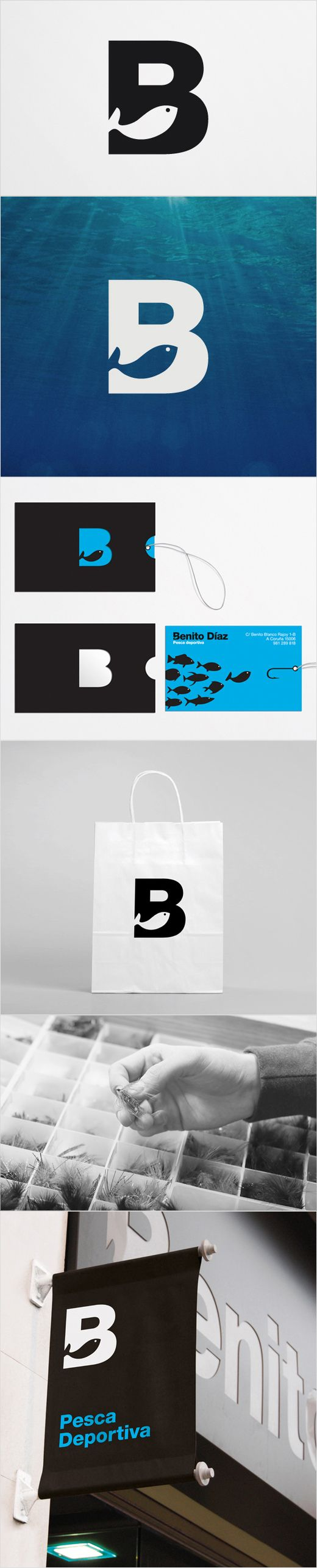 Sport Fishing Logo: Benito Díaz  - David de la Fuente www.daviddelafuente.com