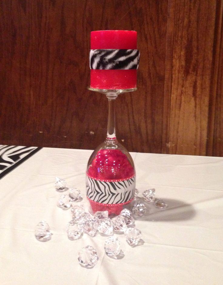 Zebra centerpiece