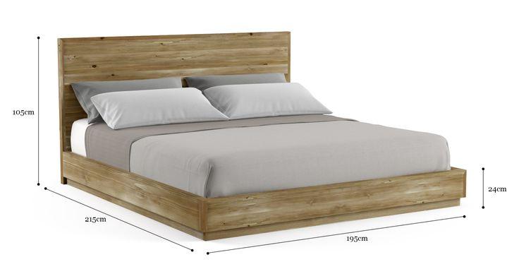 Bruin Wooden King Size Bed Frame