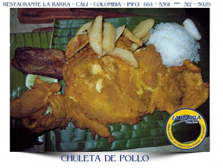 Restaurante La Barra - Chuleta de Pollo - #Cali #Colombia #ILike