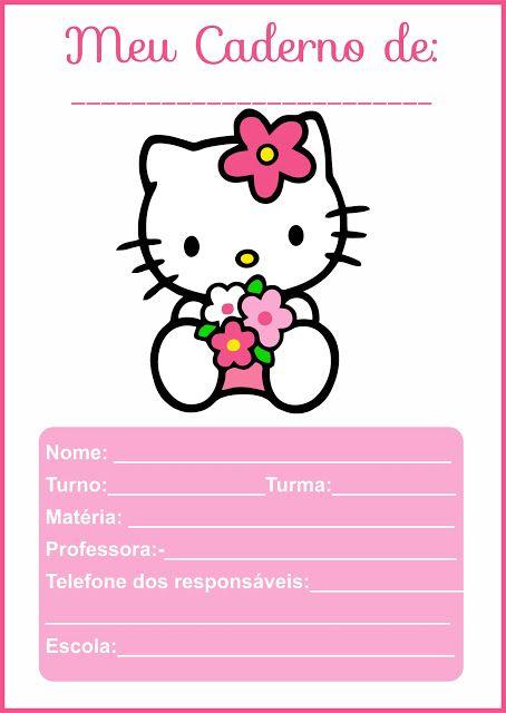 Folha de abertura de caderno Tamanho A4 e etiquetas escolares grátis para imprimir