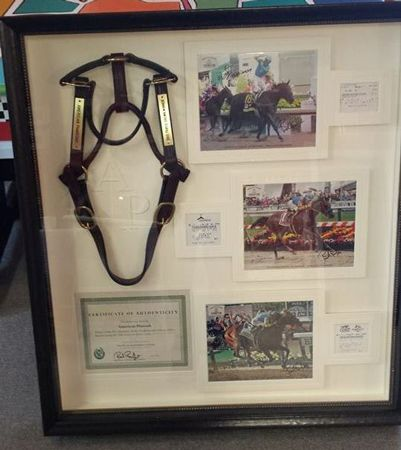An American Pharoah halter is up for auction to benefit Churchill Downs' equine workers! Get the details in the clickthrough.