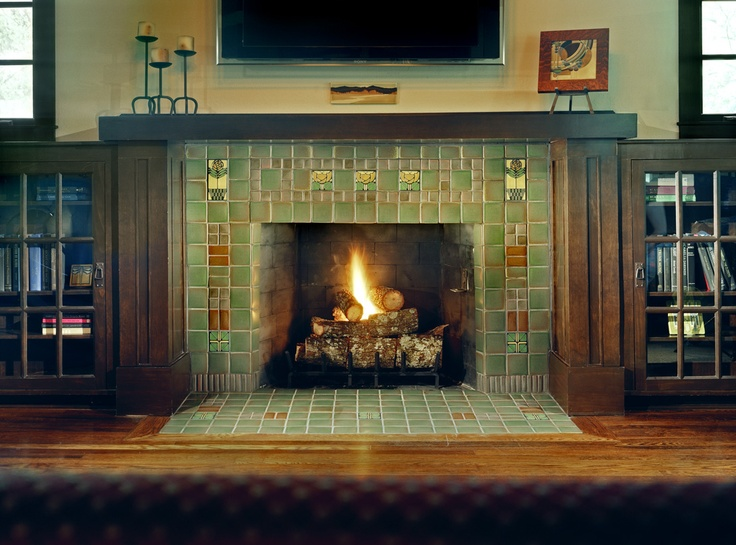 233 Best Craftsman Style Fireplaces Images On Pinterest