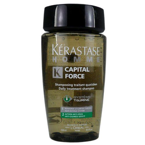 Kerastase Homme Capital Force Daily Treatment Shampoo - Anti-Oiliness Effect, 8.5 oz by Kerastase. Save 77 Off!. $25.00. Kerastase Homme Capital Force Bain. Anti oiliness treatment shampoo for men. Kerastase Homme Capital Force Daily Treatment Shampoo, Anti-Oiliness Effect, 8.5 Ounce