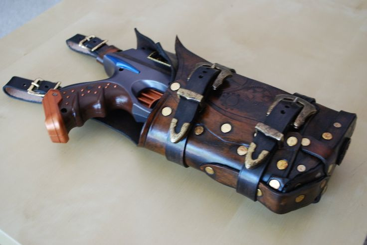 A fitting holster for my Nerf Maverick by the uber talented Skynz-N-Hydez ([link]). We have a decent size renaissance fair here in Minnesota. I tried in vein to find a local leatherworker who could...