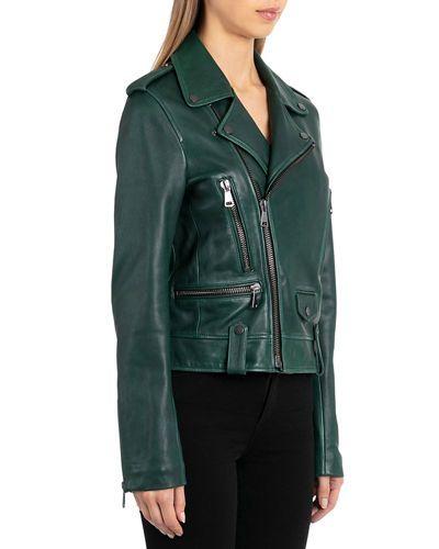 Coats, Jackets & Vests Women's Clothing Bagatelle Vintage Wash Lamb Leather Biker Jacket Size Small